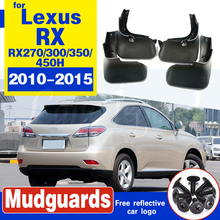 For LEXUS RX RX270 RX300 RX350 RX450H 2010-2015 Mudflaps Splash Guards Front Rear Mud Flap Mudguards 2014 2013 2012 11 Mud Flaps cha for lexus 2009 up rx270 rx300 rx350 rx450h led tail lamp rear light