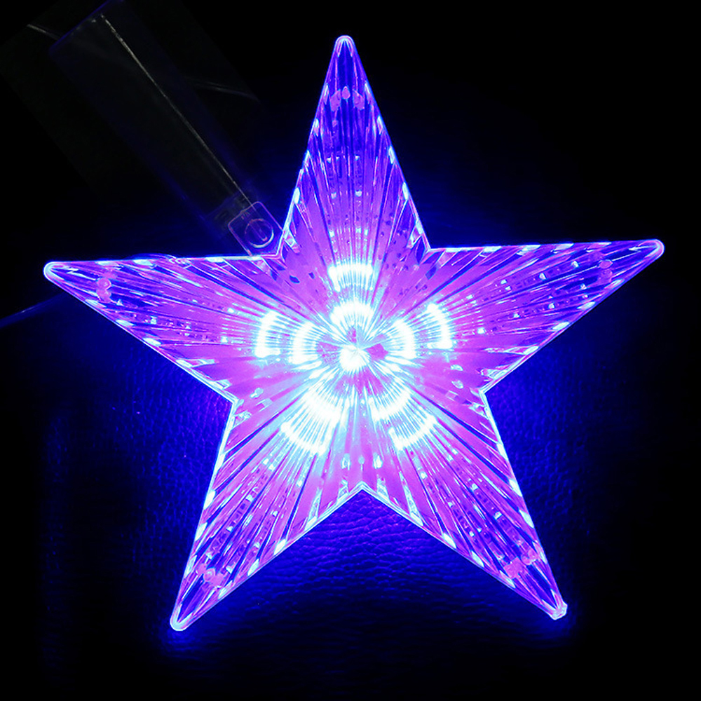 LED Star Light Meteor Five-pointed Lamp Christmas Tree Top Lights For Xmas Wedding Fairy Decorative Lights 220V EU/UK/US Plug