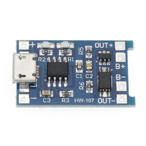 Image 3 - 100Pcs TP4056 +Protection Dual Functions 5V 1A Micro USB 18650 Lithium Battery Charging Board Charger Module