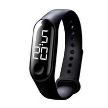 Светодиодный Электронный Спортивный светящийся датчик, модные мужские и женские часы, горячие Спортивные часы Reloj deportivo Wd3