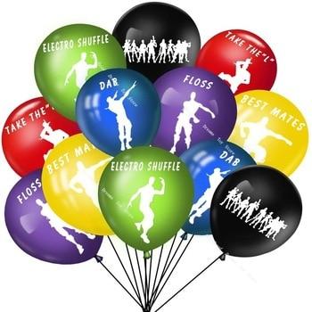 12pcs Fortnite Birthday Party Decoration Set Latex Balloon Game Theme Childrens Toys Room Decor