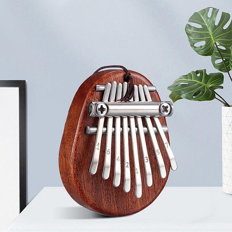 8 schlüssel Mini Kalimba Exquisite Finger Daumen Klavier Marimba Musical Gute Zubehör Anhänger Geschenk|Klavier|   -