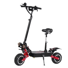 2800W 2 Dual Motor Foldable Electric Scooter With Seat 60V 85Km h Top Speed 100km Mileage