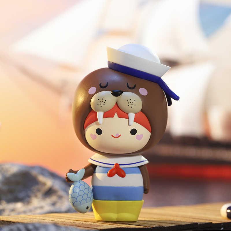 POP MART Momiji Explore Collectible 귀여운 액션 카와이 선물 키즈 플라스틱 완구 피규어 무료 배송
