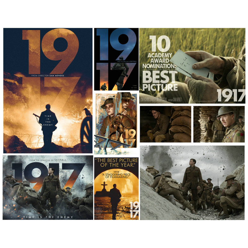 NEW Movie Poster 107X74CM 1917 Poster War Film Wallpapers Morden Personality Home Decoration image