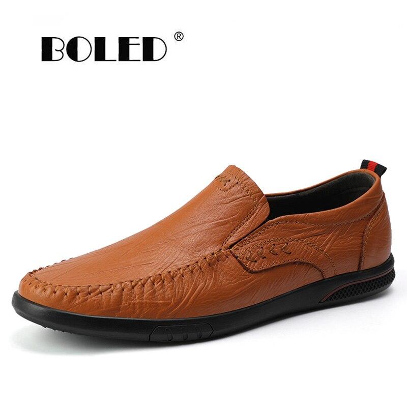 Купить мужские повседневные туфли из натуральной кожи удобные уличные