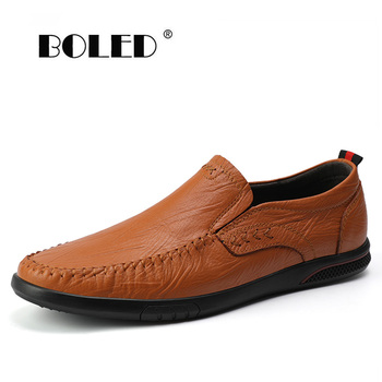 Genuine Leather Men Casual Shoes Flats Comfy Outdoor Mens Loafers Breathable Driving Men Shoes Slip On Mens Moccasin Shoes c g n p casual shoes men genuine leather loafers handmade office formal wedding shoes men dress shoes slip on mens loafer shoes