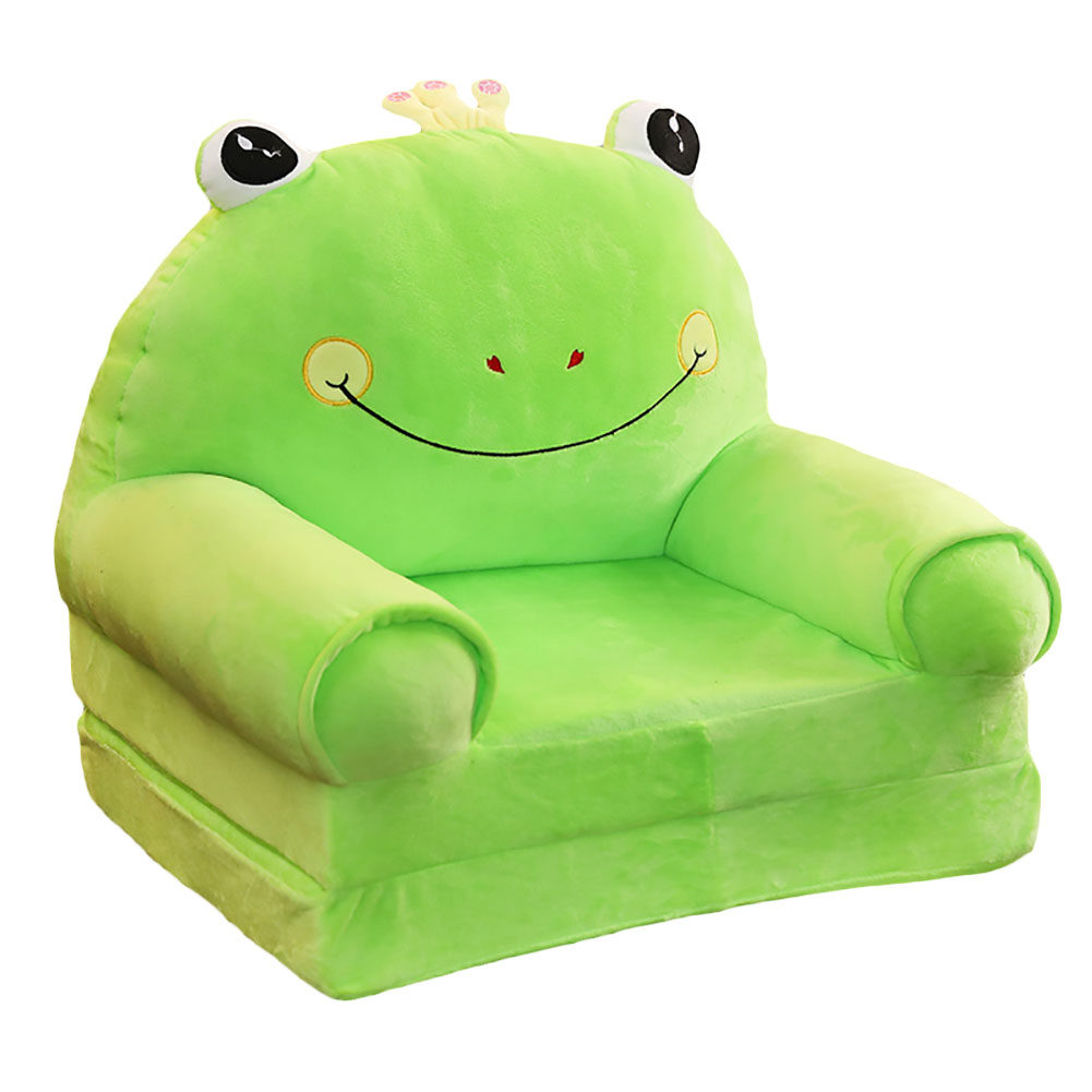 Johnear Kids Sofa Children's Sofa Cute Cartoon Animal Support Seat Bean Bag Armchair Backrest Chair For Playroom Bedroom