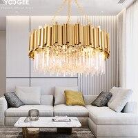 Modern Gold Chandelier for Living room Dining room Kitchen Crystal Ceiling Chandeliers Restaurant Lighting LED Lamp люстра