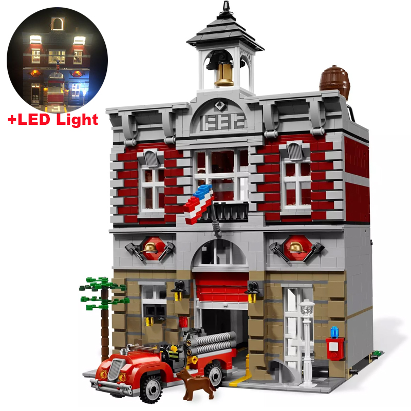 Creator Expert 84004 2313PCS Fire Brigade Sets Model Building Kits Blocks Bricks Compatible With 15004 <font><b>10197</b></font> image