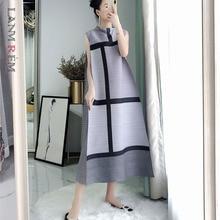 Vintage Dresses Summer Stand Collar Spring Pleated Sleeveless LANMREM WK63803 Pullover