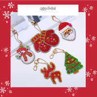 3-4-5PCS DIY Diamond Keychain Special Shaped Full Diamond Painting Keyring Keychains Cross Stitch Embroidery Women Bag Key Chain