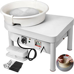 25cm 450W Electric Wheel Pottery Lathes Machine Ceramic Clay Ceramic Wheel Machine wheel machine DIY with foot pedal and removab