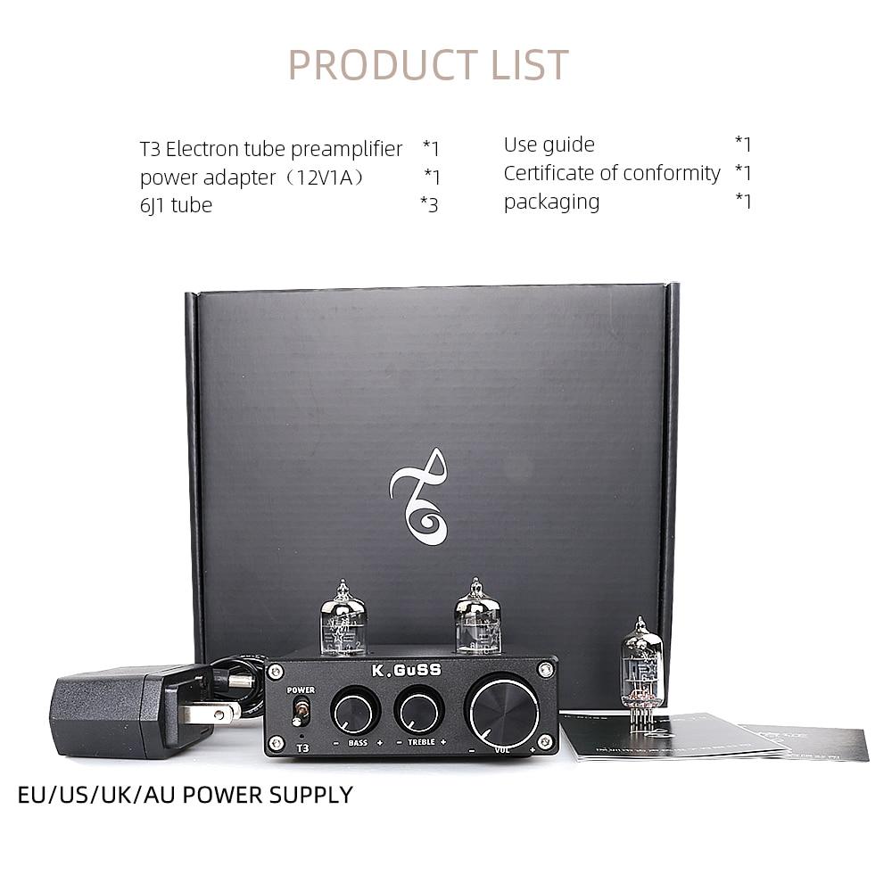Amplificateur à Tube platine vinyle aluminium enregistreur universel 6J1 préamplificateur casque Mini maison HIFI DC12V1A Support TV DVD DAC téléphone - 4