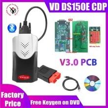 VD TCS CDP Pro ile Bluetooth 2017 Keygen V3.0 yeni röleler obd2 tarayıcı delphis vd ds150e cdp araba kamyon OBDII teşhis aracı