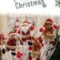 Домашний декор  Рождество  танцы  Санта Клаус  снеговик  олень  медведь  ткань  кукла  подвесной кулон  подарок на Новый год  подвесные украшен...