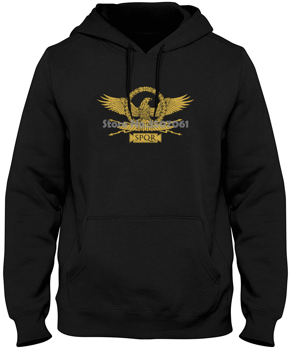 Roman Eagle Roma Rom Kaiser Ceasar Emperor Spqr Empire Julius Insignia blacks Cotton Free Shipping Hoodies & Sweatshirts image