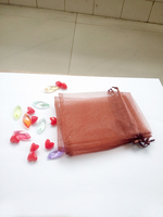 500pcs 13*18 Brown gift bags for jewelry/wedding/christmas/birthday Organza Bags with handles Packaging Yarn bag