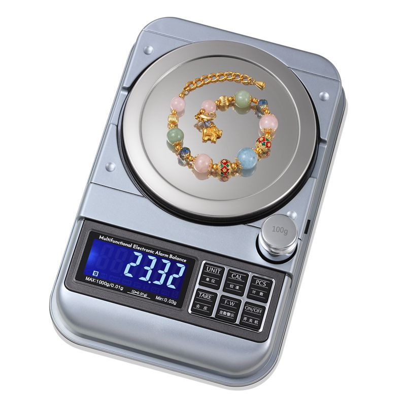 500g 0.01g Digital Fixed-number Warning Balance 5kg 0.1g Portable Jewelry Scale USB Electronic LCD Kitchen Alarm Weight Scales