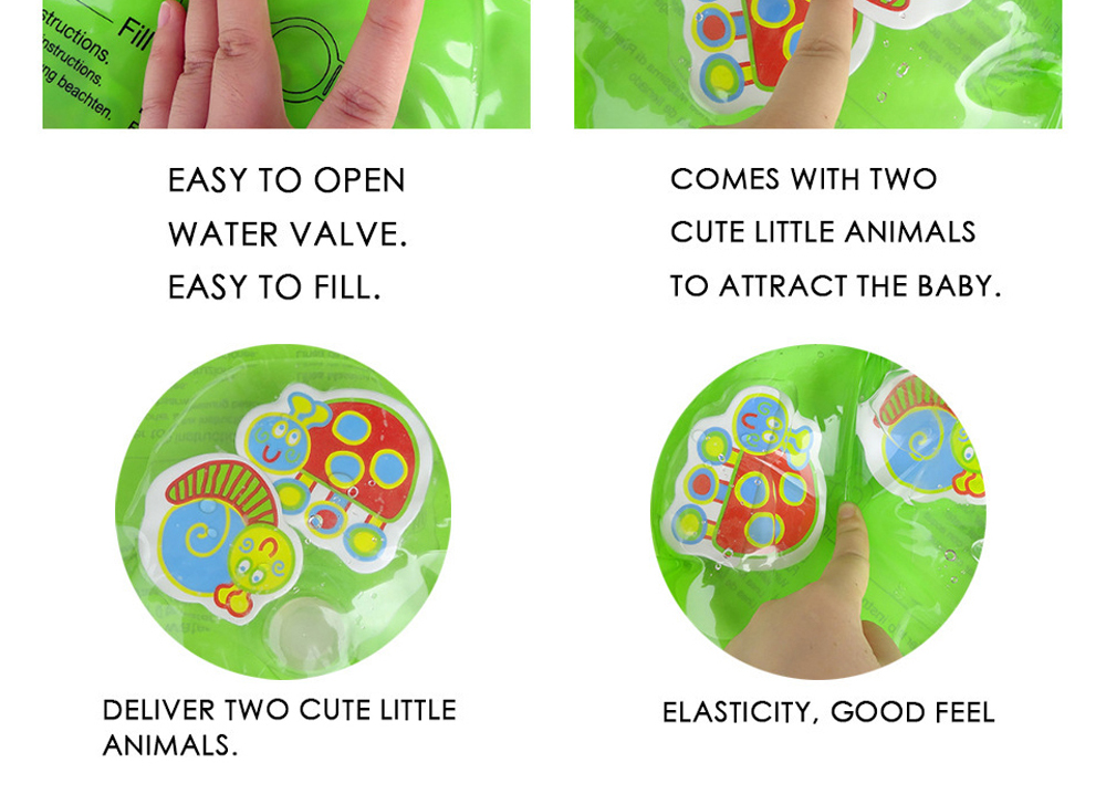 Hb572b77da9a94c0e989954d3665b051cO 36 Designs Baby Kids Water Play Mat Inflatable PVC Infant Tummy Time Playmat Toddler Water Pad For Baby Fun Activity Play Center