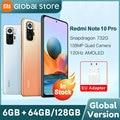 Глобальная версия телефона Xiaomi Redmi Note 10 Pro 64 Гб/128 ГБ Snapdragon 732G 108MP камера 120 Гц AMOLED дисплей