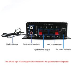 Image 4 - AK370 صوت صغير مكبر كهربائي BT استقبال الصوت الرقمي أمبير ذاكرة يو إس بي فتحة للبطاقات مشغل MP3 راديو FM مع جهاز التحكم عن بعد