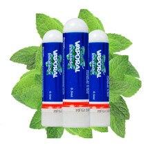 SMF-Aceite Esencial Nasal Original, inhalador Nasal de Tailandia, pomada Herbal fría para refrescar la nariz, rinitis alérgica, crema de menta, 3 uds.