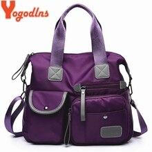 Yogodlns Neue Ankunft Nylon Frauen Messenger Taschen Casual Große Kapazität Damen Handtasche Weibliche Crossbody Schulter Taschen Wasserdicht