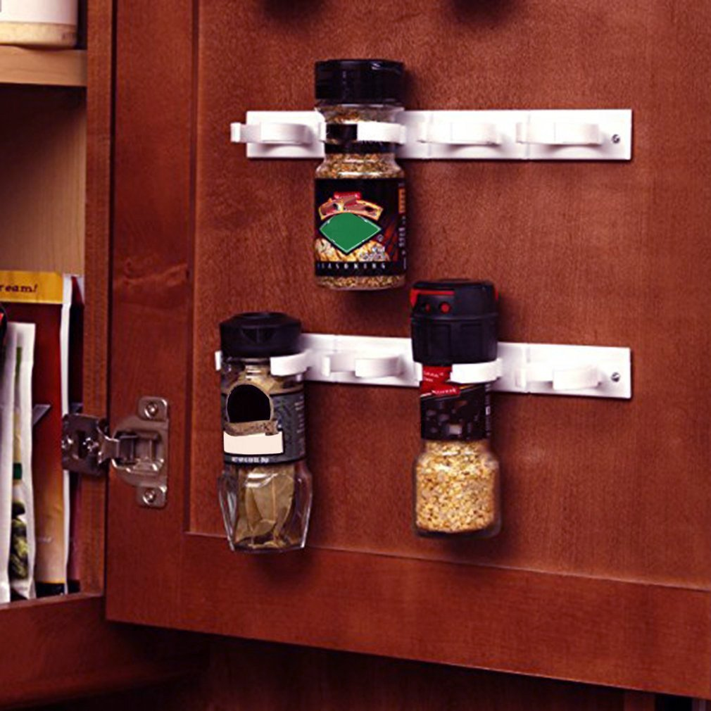 Clip Kitchen Spice Organizer Lightweight Storage Rack Shelf Kitchen Spice Seasoning Carrier Bottle Holder