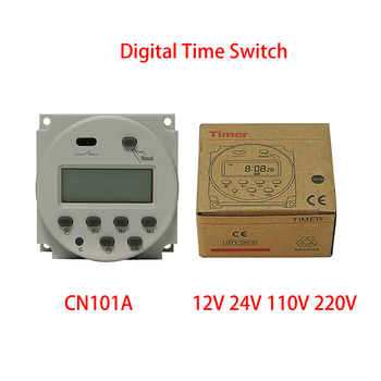 цена на CN101A CN102A 5V 12V 24V 110V 220V Digital Timer Switch 7 Days Weekly Programmable Time Relay Programmer Countdown Time Function