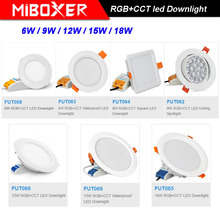 MiBOXER 6W/9W/12W/15W/18W LED Downlight AC110V 220V RGB+CCT Dimmable Ceiling Spotlight FUT062/FUT063/FUT066/FUT068/FUT069