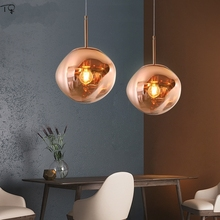Nordic Glass Lava Lamps Creative Simple Modern Pendant Lights Led Restaurant Living Room Bar Cafe Hotel Suspension Luminaire personality simple modern led creative aluminium pendant lamps cover room restaurant bar study taipei europe lamp pendant fg280