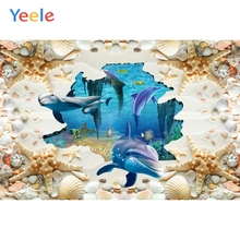 Yeele Room Fade Decor Photocall Dolphin 3D Painting Photography Backdrop Personalized Photographic Backgrounds For Photo Studio
