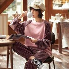 Xifer осенне зимние утепленные фланелевые пижамы для женщин