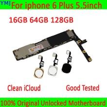 Avec/sans ID tactile pour iphone 6 Plus carte mère, 100% Original débloqué pour iphone 6 Plus carte mère avec puces complètes