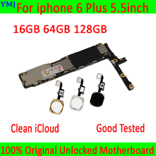 With/Without Touch ID for iphone 6 Plus Motherboard ,100% Original unlocked for iphone 6Plus Mainboard with Full Chips