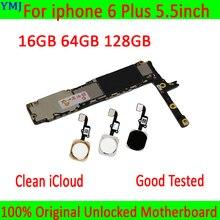 Z/bez Touch ID dla iphone 6 Plus płyta główna, 100% oryginalny odblokowany dla iphone 6 Plus płyta główna z pełnymi chipami
