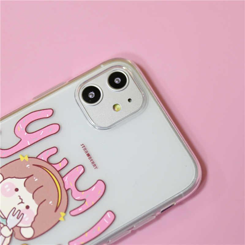 Tumijump original morango bolo capa para iphone se 2020 macio silicone caso para iphone 11 pro max xr xs x 6 s 7 8 mais casos