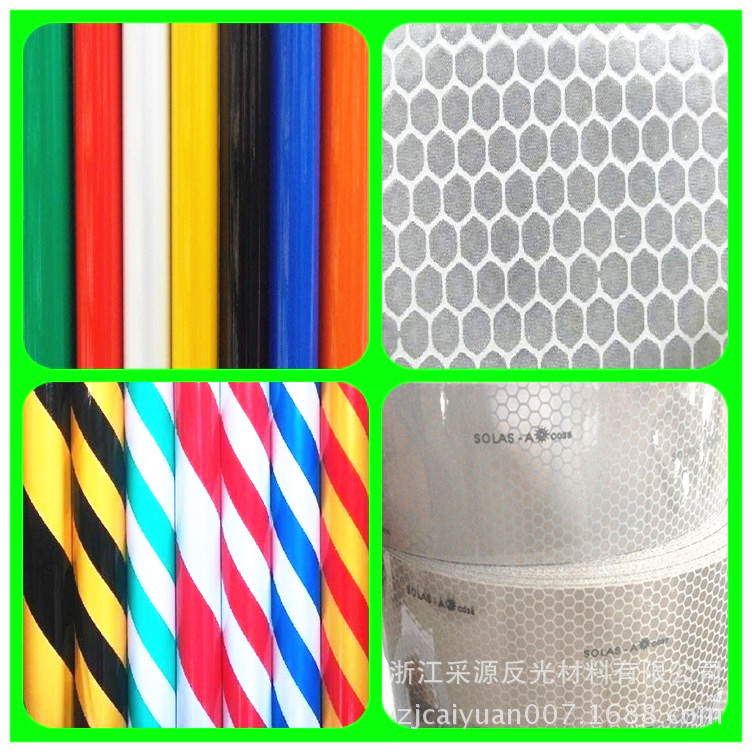 Manufacturers Hot Sales Honeycomb Level Two Reflective Film High-strength Grade Reflective Film 5 Cm Solid Color Traffic Reflect