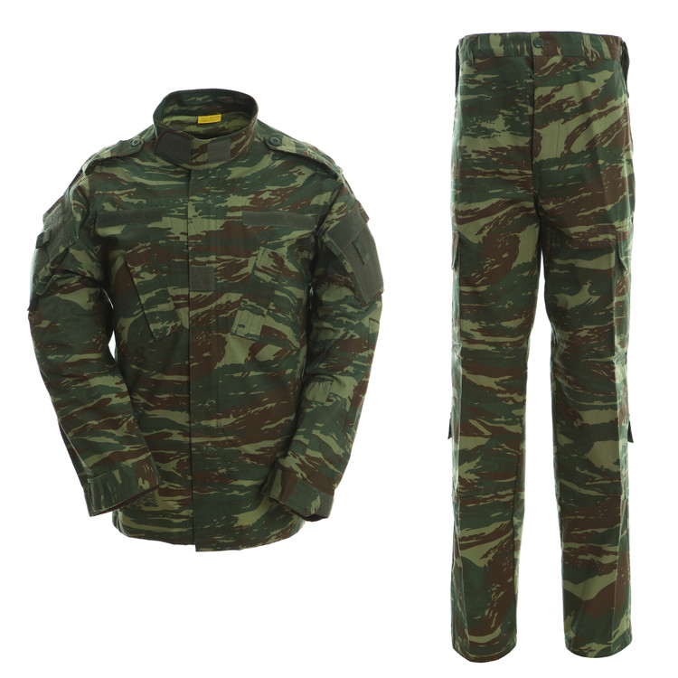 US Army Military Uniform Men ACU Version Greece Camouflage Lizard Suits Greek Patterns For Training Field CS Game Airsoft