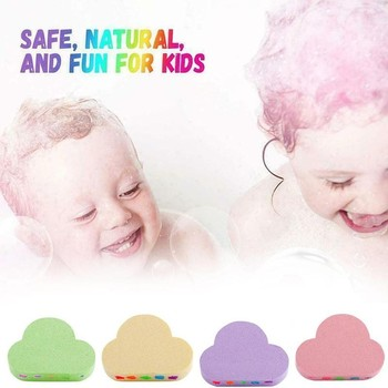 Rainbow Soap Cloud Bath Salt Moisturizing Exfoliating Cleaning Body Skin Bubble Bath Bombs Multicolor For Baby 1