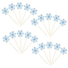 10pcs Christmas Snowflake Cupcake Toppers Insert Baby Girl Frozen Birthday Party Decor Kids Cake Accessories Supplies