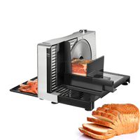 110v~240v Household Electric Meat Slicer Cutting Machine Semi Automatic Manual Frozen Bread Lamb Beef Vegetable Electric Slicer