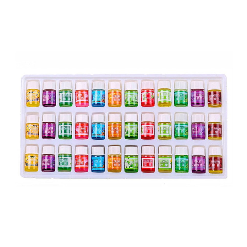 NEW 36Pcs/Set Skin Care Aromatherapy Essential Oil 12 Kind 3ML Fragrance Aromatherapy Oil Natural Spa Oil Pack