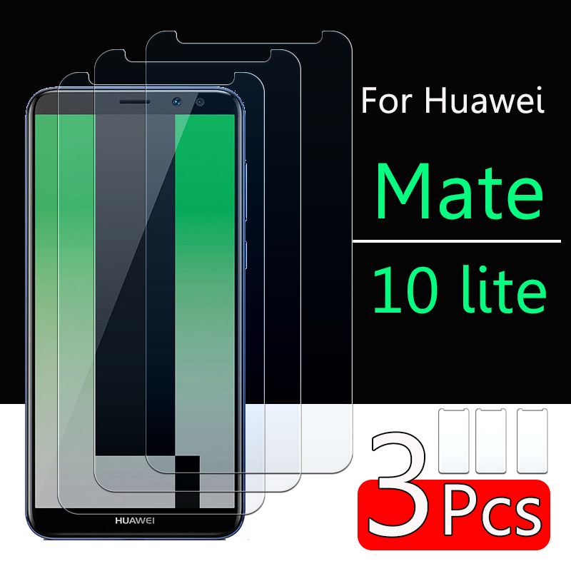 Protective Glass On For Huawei Mate 10 Lite Screen Protector Huavei Hauwei Mate 10lite Light Matte10lite Tempered Glas Sheet Fil