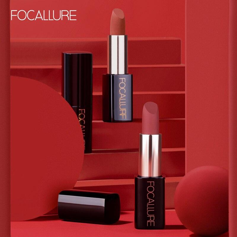 FOCALLURE Matte Lippenstift Kosmetik Wasserdichte Langlebige Pigmentierte Farbton Sexy Rot Samt Lippen Professionelle Make-Up für Frauen