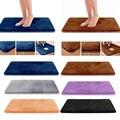 1 stücke Weiche Memory Foam Bad Matte Nicht Absorbent Samt Bad Teppich Teppich Zu Hause Küche Hotel Teppich Multi-farbe