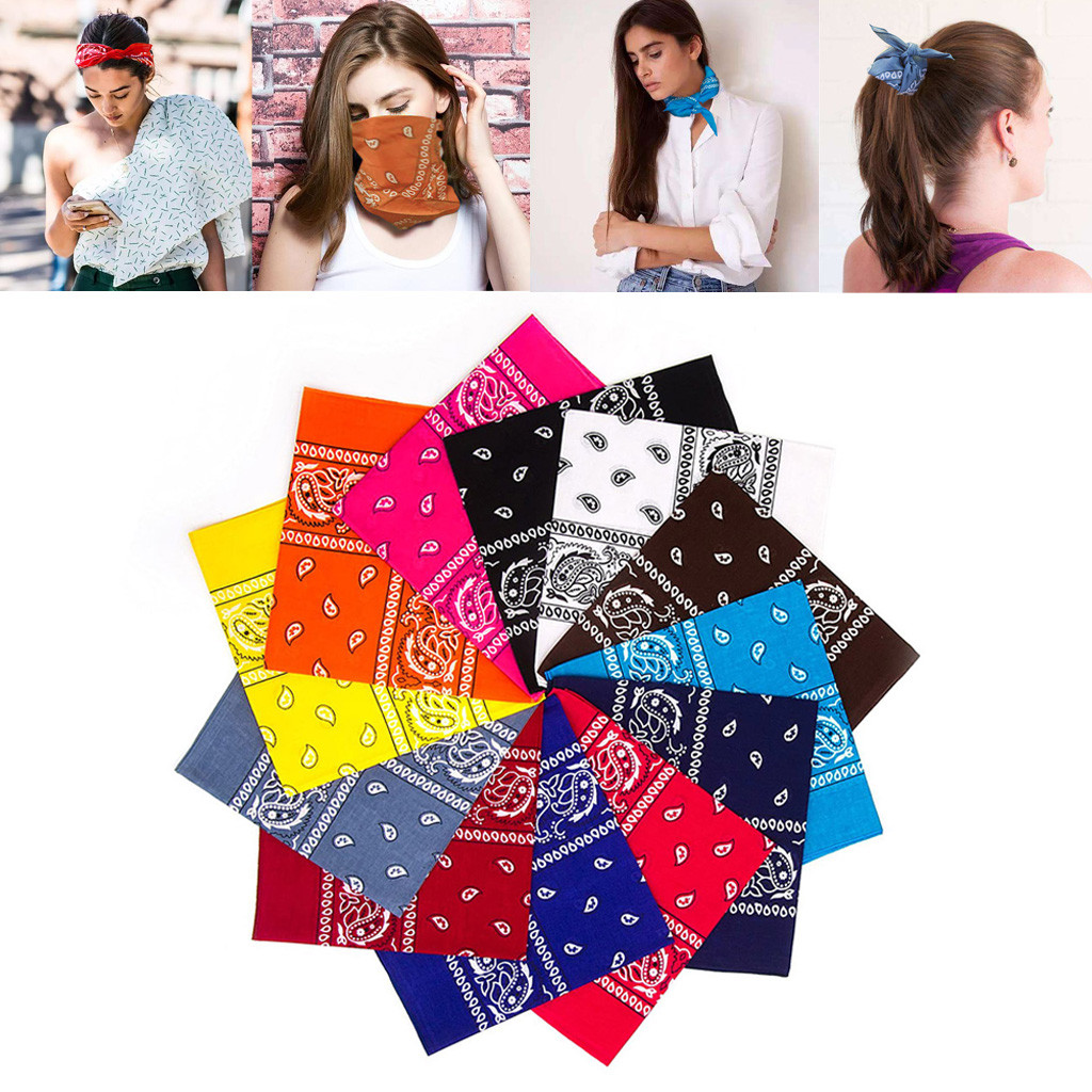 12Pcs Scarf Women New Mix Cotton Head Bandana Hip-Hop For Men Women Scarves Bracelet Scarf Men 2020 Scarfs