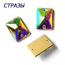 CTPA3bI 3250 AB Color Rectangle Shape Beads For Jewelry Making Glass Strass Rhinestones DIY Garments Needlework Art Crafts