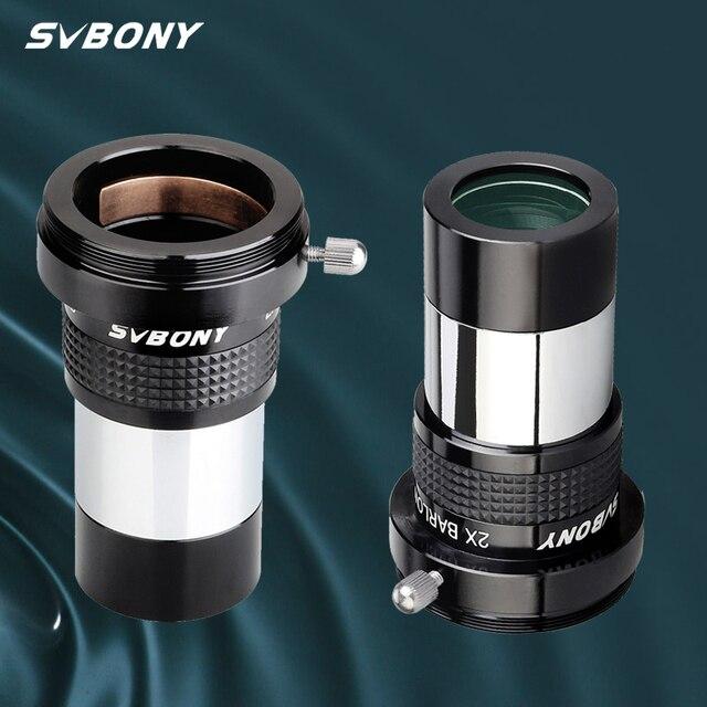 SVBONY SV137 omni 2x עינית ארלו עדשה מקצועי טלסקופ חלק 1.25 אינץ באופן מלא רב מצופה האסטרונומי עינית W9106B